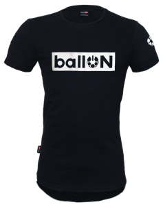 BRAND BLACK T-SHIRT - BallON